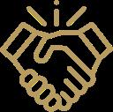 Håndtryk ikon